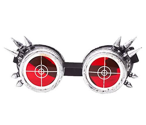 Unisex Stacheldraht Steampunk Goggles Spikes Schutzbrille Brille Vintage Cosplay Party Schweißen Rave Goth Punk Musikfestival Gläser Mit Led Licht