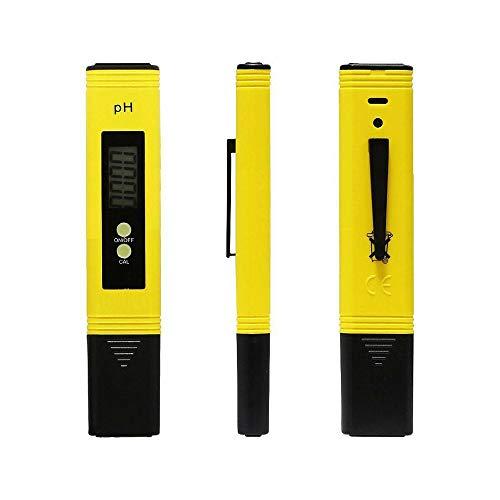 VJK PH Tester Tester qualità Acqua Misuratore della qualità dell'Acqua 4 in 1 Set/Digitale Misuratore Portabile/Auto-Calibrazione e Compensazione Automatica Temperatura Retroilluminato