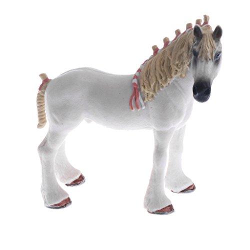 Sharplace Realistische Tier/ Insekt Spielzeug Tierfigur Dekofigur Spielzeug Wohnkultur Sammlung - Pferd - 2