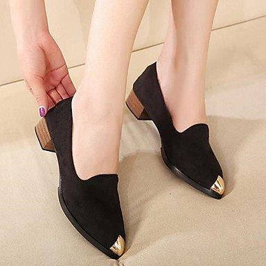 Zormey Damen Stiefel Winter Mary Jane Pu Casual Keilabsatz Feder US5.5 / EU36 / UK3.5 / CN35