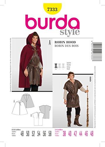Hood Muster Kostüm Für - Burda Schnittmuster 7333 Robin Hood Gr. 48-58