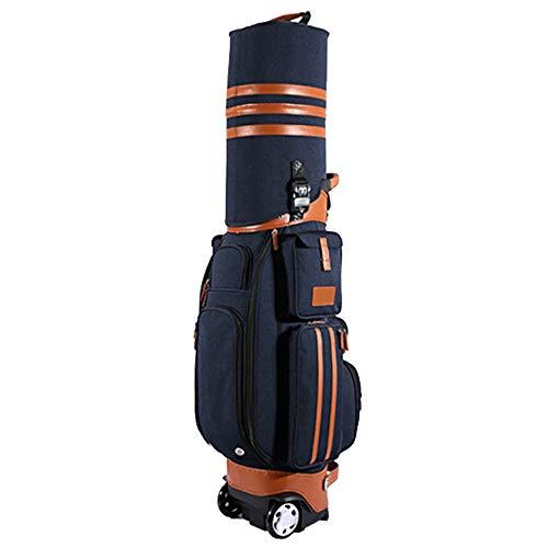 Borsa da viaggio da golf Borsa da viaggio da golf Borsa da aviazione borsa da viaggio multifunzionale in PU impermeabile di alta qualità con ruote, blocco password per uomini donne Con imbottitura e p