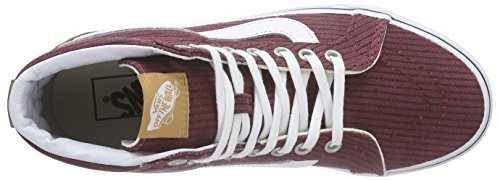 Vans Classic Slip-On- Sneaker Unisex Adulto Rosso (washed Herringbone Pack/rhubarb)