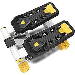 Máquina de Step, Entrenamiento Stepper Sport Twist Stepper Machine con Bandas de Resistencia para Entrenamiento físico y de Entrenamiento (Color : Negro, tamaño : Casual Size)