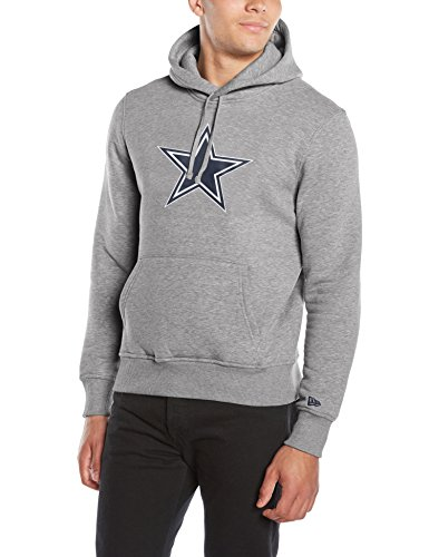 New Era Herren Kapuzenpullover NFL Team Logo PO Hoodie Dallas Cowboys, Heather Grey, XL, 11073773