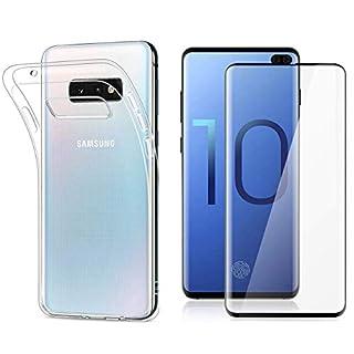 Arktis Premium Safety Set kompatibel mit Samsung Galaxy S10e - TPU Silikon weiche Hülle Schutzhülle Case + Full Cover Panzerglasfolie 9H Härtegrad Hüllenfreundlich vollständiger Displayschutz