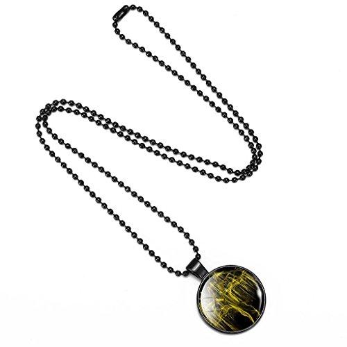 Jiayiqi Mode De Arbre De Vie Pendentif Collier Pistolet Noir Perles Collier Pour Femmes NO.17