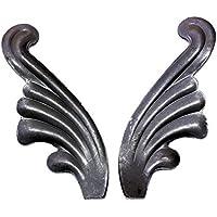 # 556par Ornamentales roseta alas de ángel hojas hojas de roble de barandilla forjado