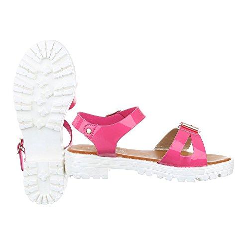 Ital-Design - Sandali alla schiava Donna rosa oro
