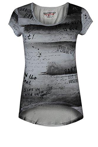 trueprodigy Casual Damen Marken T-Shirt mit Aufdruck, Oberteil cool und stylisch mit Rundhals (kurzarm & Slim Fit), Top für Frauen bedruckt Farbe: Weiß 1072529-2000 White
