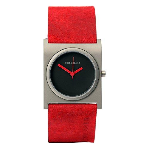 Rolf Cremer Curve 499718, rote Damenuhr