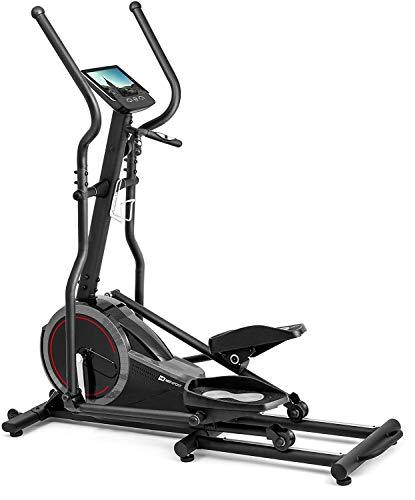 Crosstrainer HS-070C Buzz schwarz/grau von Hop-Sport Ellipsentrainer mit Pulsmessung 18kg Schwungmasse Belastbarkeit bis 150kg