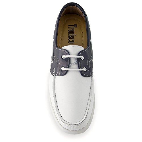 Scarpe da uomo che permettono di aumentare la statura fino a 7 cm. Porto Novo bicolore taglia 44