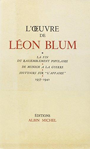 L'Oeuvre de Léon Blum (1937-1940)