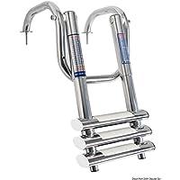 Scaletta telescopica con maniglie 3 gradini English: 3-step telescopic ladder w/handles