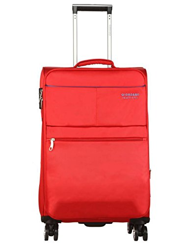Giordano Polyester 20 cms Red Softsided Check-in Luggage (Oxford812-RD20)
