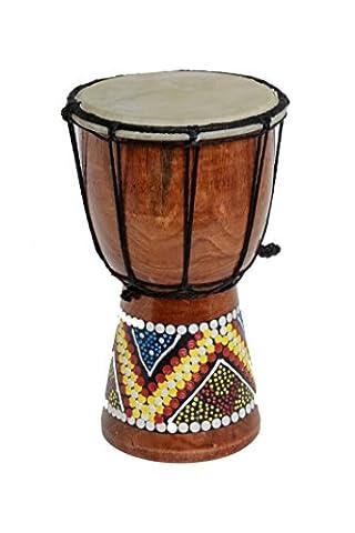 30cm Djembe bunt bemalt Trommel Drum Handarbeit