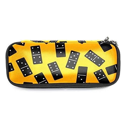 TIZORAX Federmäppchen mit Domino-Muster, Make-up-Tasche für Studenten, Schreibwaren, Stifthalter für Schule/Büro (Domino-muster)