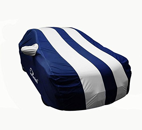 Autofurnish Stylish Stripe Body Cover for Maruti Swift (Blue and Silver)