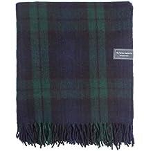 The Tartan Blanket Co. Couverture recyclée en laine – style tartan écossais Black Watch