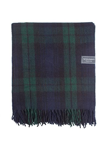 The Tartan Blanket Co. Recycelte Wolldecke Schottenmuster - Black Watch (150cm x 190cm) -