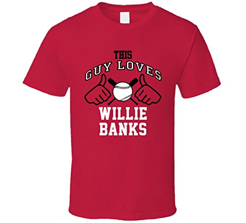 This Guy Loves Willie Banks Arizona Baseball Player Classic T Shirt XLarge (Shirt Arizona Classic)