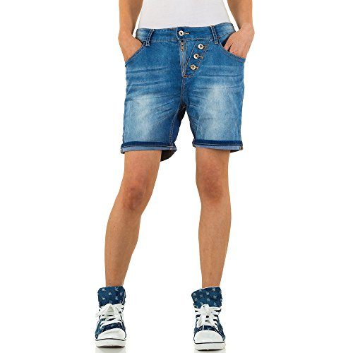 Used Look Boyfriend Jeans Shorts Für Damen , Blau In Gr. M/38 bei Ital-Design (Boyfriend Jeans-shorts)