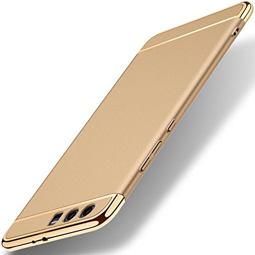 Coque Huawei Honor 9 (5,15 pouces), MSVII® 3-in-1 Design PC Coque Etui Housse Case et Protecteur écran Pour Huawei Honor 9 (5,15 pouces) - Rouge / RED JY50090 Or