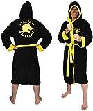 Groovy Rocky Unisex Adults Fleece Hooded Dressing Gown Bathrobe
