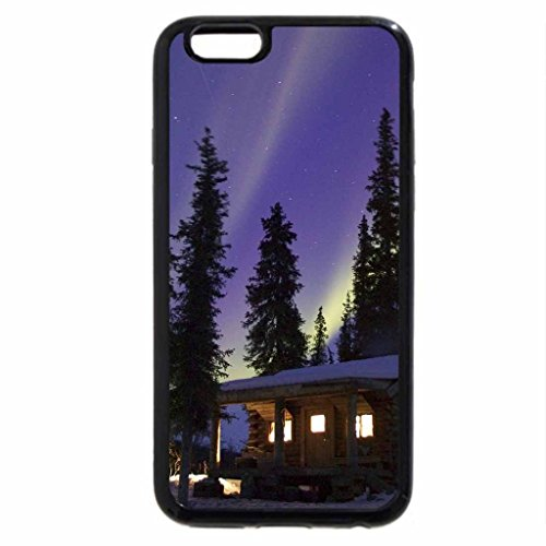 iPhone 6S / iPhone 6 Case (Black) Cabin Glow, Alaska