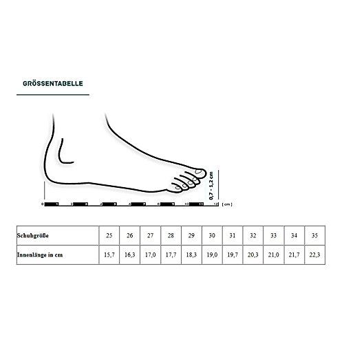 GALLUX - Mädchen Ballerinas Schuhe Hausschuhe Grau