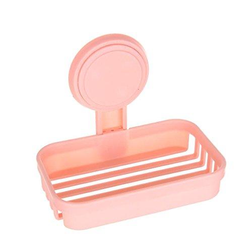 Xuan - worth having Placage de mur d'étagère de savon de boîte de savon de mode simple de couche rose en plastique