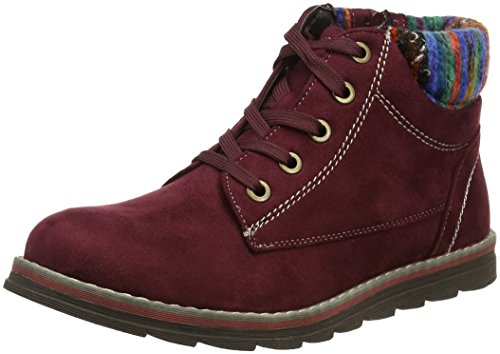 Lotus Women's Sequoia Desert Boots, Red (Bordo Micro), 5 UK 38 EU