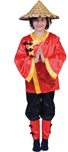 Karneval-Klamotten' Kostüm Chinese Junge Mädchen Karneval Asien Kinderkostüm Größe 164
