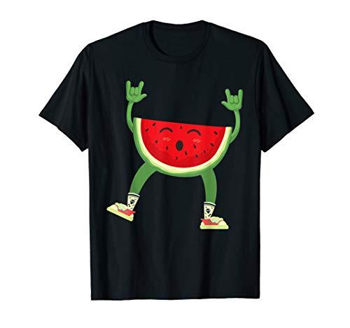 Wassermelone Bekleidung (Tanzen-Wassermelonen-Shirt | Cooles Herz schlägt für Frucht-)