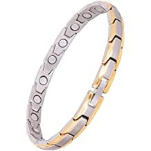 Moneekar Jewels Premium Quality Womens Titanium 3500 Gauss Magnetic Therapy Bracelet Pain Relief for Arthritis and Carpal Tunnel