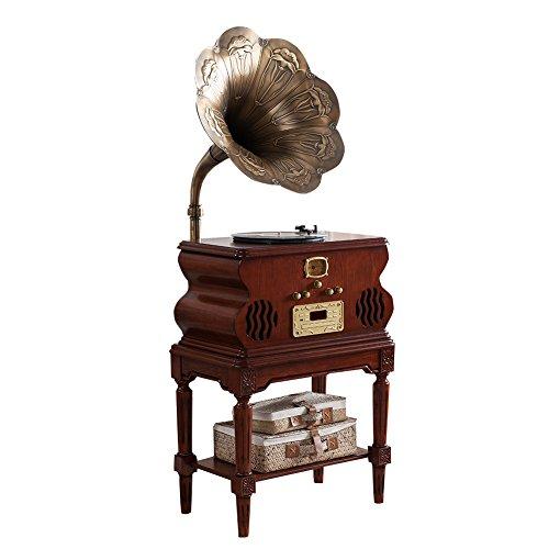 stg-solid-wood-trumpet-retro-phonograph-antique-vintage-cd-usb-subwoofer-mlg1688a