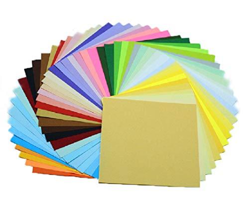 150 Blätter in 50 Verschiedene Farben Origami-Papier 15x15 cm OrigamiPapier Faltpapier Doppelseitig Das bunteste Set mit DIY Handwerk Origami Papier