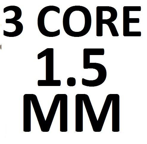 3 n/úcleos 0,75 mm Cable flexible redondo negro de 2 1,0 mm 1,5 mm 3182Y 3183Y rollo completo y longitudes de corte personalizadas disponibles