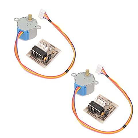 2Pcs 28BYJ–48DC 5V 4Phase 5Draht Micro Elektro Step Motor with Drive Module Board ULN2003for Arduino, (48 Filo)
