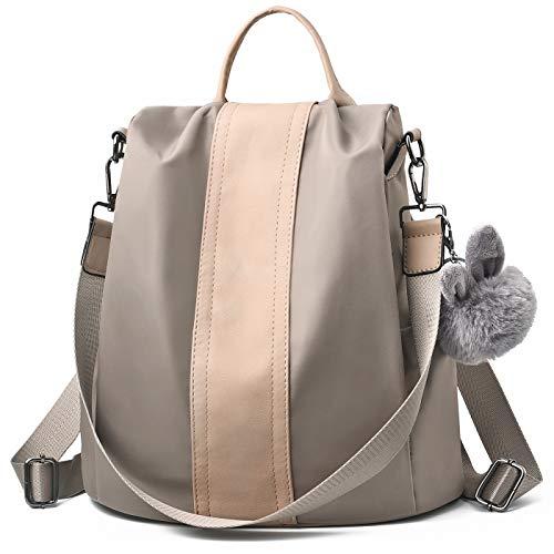 Charmore Damen Rucksack Wasserdichte Nylon Schultaschen Anti-Diebstahl Tagesrucksack Schultertaschen - Gefütterte Nylon-rucksack