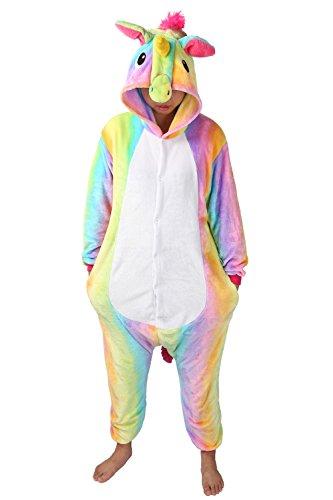 Adulte Unisex Licorne Pyjama Kiguruma Combinaison Vêtement de Nuit Cosplay Costume Déguisement...