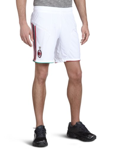 adidas Herren Kurze Hose AC Milan Home & Away, white/acm red home 11/ acm black, M, X23704 - Ac Milan-bekleidung