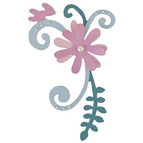 Sizzix 661054 Garten Blüten Bigz Stanze, Plastik / Holz / Stahl, mehrfarbig, 17.39 x 13.9 x 2 cm