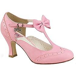 Pin Up Couture Spangen-Pumps Flapper-11 pink Gr. 41