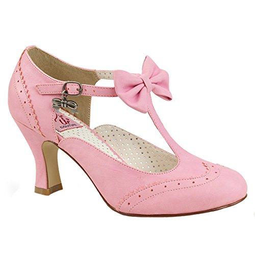Pin Up Couture Spangen-Pumps Flapper-11 pink Gr. (Flapper Kostüme Pink)
