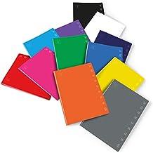 Pigna Monocromo 02298875M, Quaderno Formato A4, Rigatura 5M, Quadretti 5 mm per 2° e 3° Elementare, Carta 80G/Mq, Pacco da 10 Pezzi