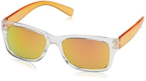 Dice Unisex Kinder Sonnenbrille, Shiny Crystal Orange, One size, D03370-4