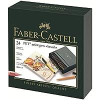 Box Faber-Castell Pitt penna studio dell'artista 24 set colori (japan import) - Faber Castell Pitt Artist Brush