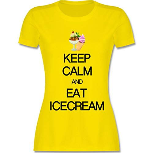 Keep calm - Keep calm and eat icecream - tailliertes Premium T-Shirt mit  Rundhalsausschnitt